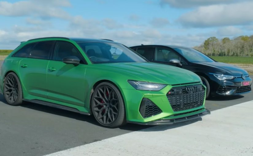 RS 6 Avant Leaves Golf R in the Dust and the Wind