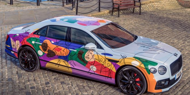 One-off multi-coloured Bentley makes diversity statement