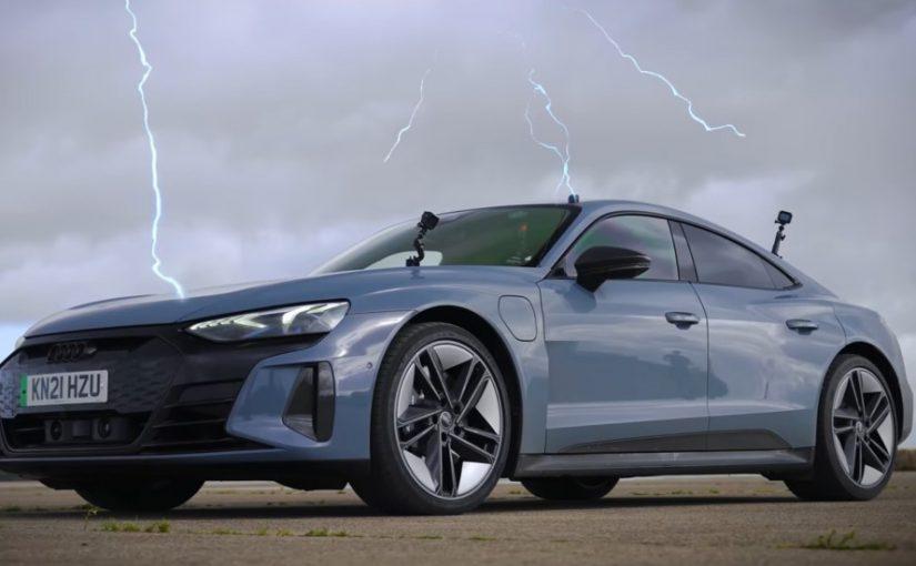 RS e-tron GT, Taycan Welcome Tesla to Teutonic EV Drag Battle