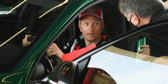 Kimi Räikkönen drives the Alfa Romeo Giulia GTA