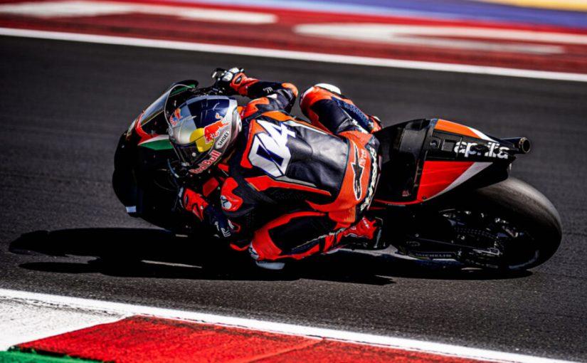 Andrea Dovizioso Tests The Aprilia RS-GP at Misano