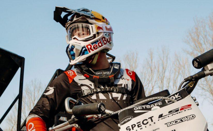 LS2 Helmets Back FMX Rider Luc Ackermann