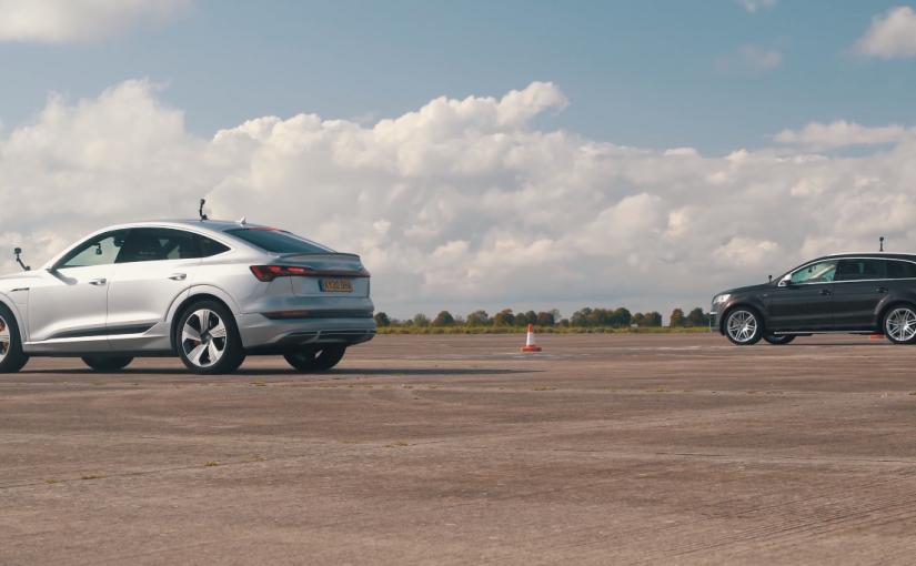 New vs. Old: Audi e-tron Sportback Races a V12-powered Q7 TDI