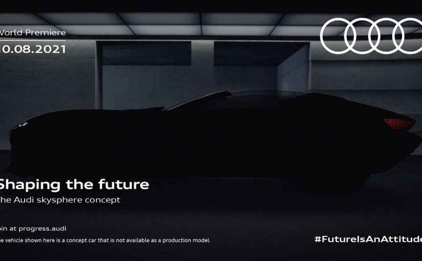 Audi skysphere Concept Set for Reveal August 10th