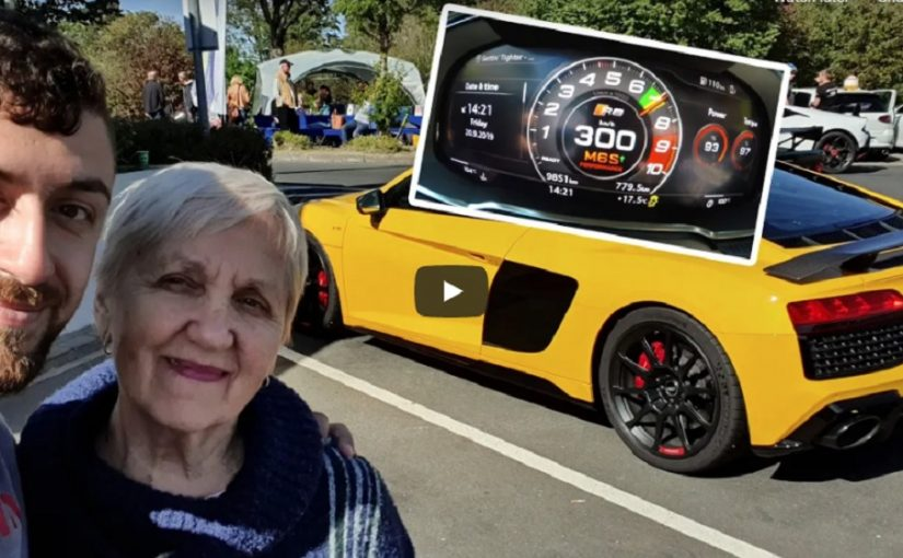 YouTuber Takes Grandmother Around the 'Ring in Audi R8